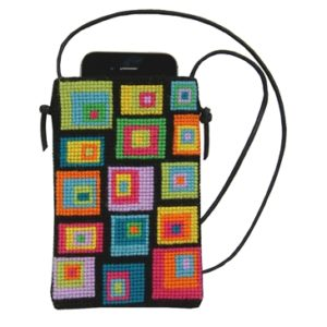"Mobiltaske -""colourful cobblestone"""