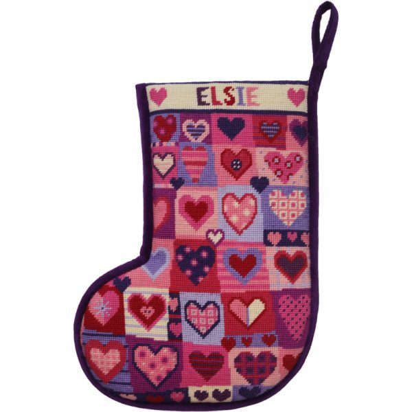 "Julesok - ""Christmas love hearts - stocking"""
