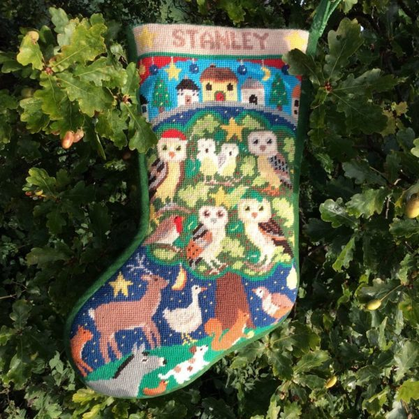 Julesok - Owl stocking