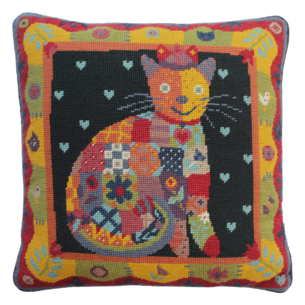 Jolly Red Patchwork Cat