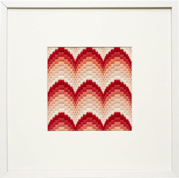 Bargello Coral Waves